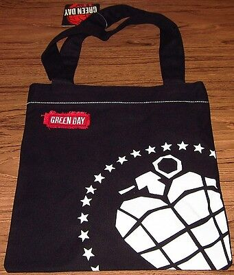 "GREEN DAY TOTE BAG Purse ""Grenade"" Black Authentic Licensed NEW"