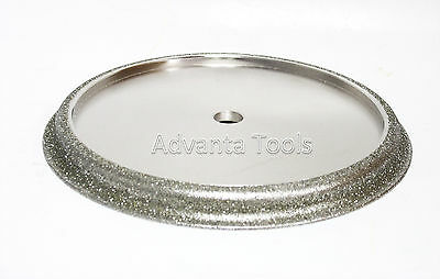 """7"""" x 1/2"""" Electroplated Profile Wheel for Granite - Shape F - Ogee"""