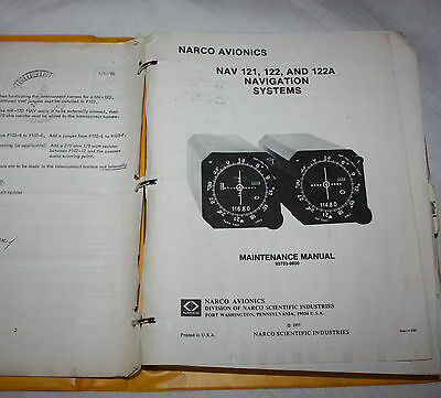 Narco NAV 121,122 and 122A Navigation Systems Maintenance Manual