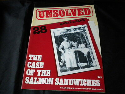 Unsolved Orbis Issue 28 - Annie Hearn The case of the salmon sandwiches