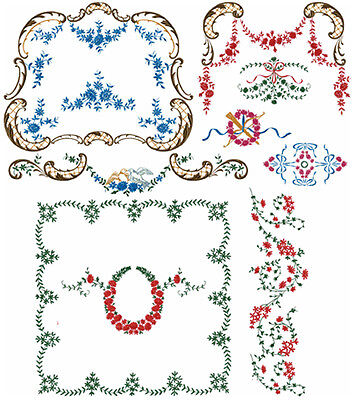 "ABC Designs 21 Victorian Decor 2  Machine Embroidery Designs Set 5""x7"" Hoop"