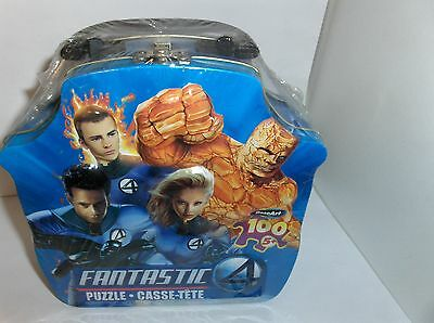 The Fantastic 4..Marvel 20Th Century Fox.Metal Lunch Box With Puzzle`Free To US