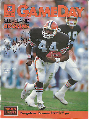 Ickey Woods Autographed Gameday cover Bengals vs. Browns September 1988