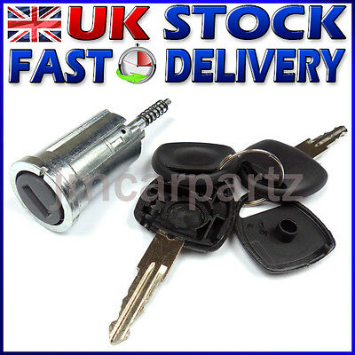 Ignition Lock Barrel & Keys compatible VAUXHALL ASTRA CORSA MERIVA TIGRA ZAFIRA