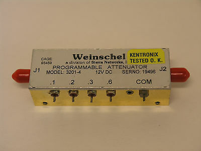Weinschel 3201-4 Programmable Attenuator.  0 to 12dB in .1dB Steps.  DC to 2GHz.