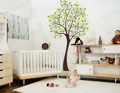 Nursery Tree Wall Decals Large Tree Wall Stickers Removable Vinyl Kids Room Art