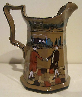 "Buffalo Pottery Deldare Ware Ye Olden Days 7 1/2"" Pitcher"