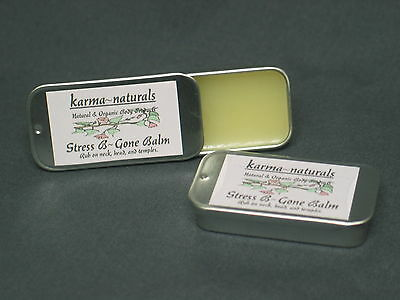STRESS BALM & Headache Relief - Natural Homeopathic Essential Oil Aromatherapy