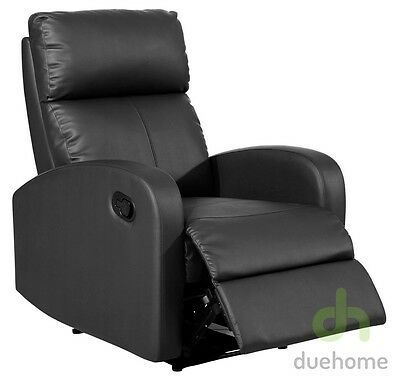 Sillon relax reclinable negro