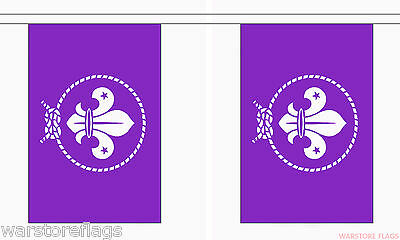 SCOUTS PURPLE 9 METRE BUNTING 30 FLAGS flag SCOUT SCOUTING BOYS CLUB