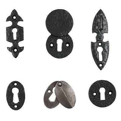 Black Cast Iron Escutcheon Plates Keyhole Cover Key Hole Door Lock Accessory