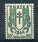 Stamp / Timbre De France Neuf 1945 Luxe N° 671 ** Drapeau Type Chaines Brisées
