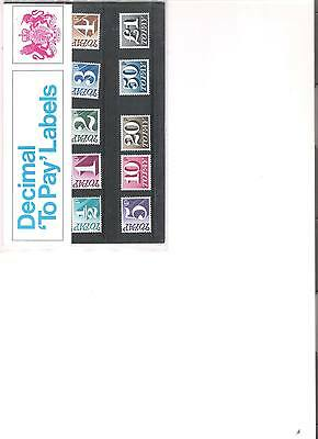 1971 Royal Mail Presentation Pack Postage Dues Pack 36