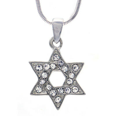 20 Star of David Charms Antique Silver Tone 2 Sided Small Size SC2466