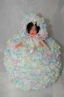Knit in Lace- Doll Toilet Roll Cover Knitting Pattern- Not the finished product