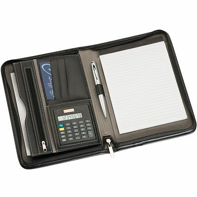 A 5 COMPENDIUM LEATHER LOOK METAL PEN and desk organiser included