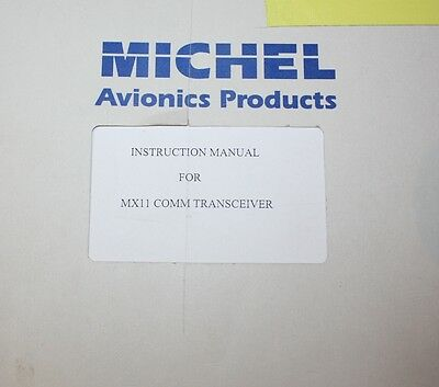 Michell MX11 Comm Transceiver Instruction Manual Avionics