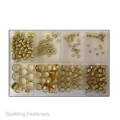 Assorted Imperial Brass Olives 1/8, 5/32, 3/16, 1/4, 5/16, 3/8, 1/2 & 5/8""