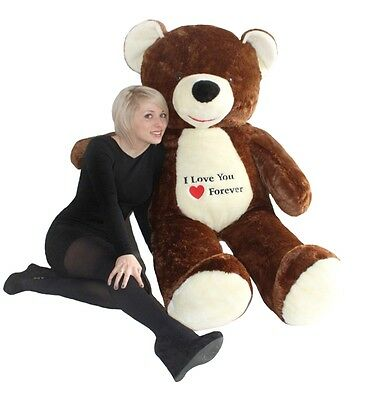 Giant large big brown teddy bear with embroidery 170cm