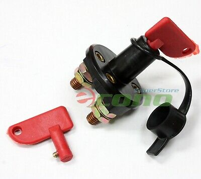 Auto Battery Cut Off Switch Disconnect Kill Solid Brass With 2 Removable Keys