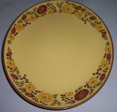 """13 1/2"""" OVAL  PLATTER PATTERN INDIAN SUMMER BY TAYLOR SMITH & TAYLOR  FLOWERS"""