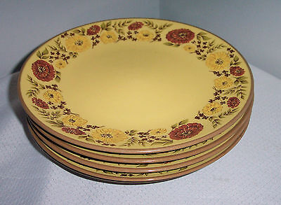 """5 LOT 8 1/2"""" SALAD  PLATES  PATTERN INDIAN SUMMER BY TAYLOR SMITH & TAYLOR"""
