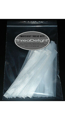"""Embroidery Thread Nets Pack - 100 PIECES  - 6"""" Long - ThreaDelight"""