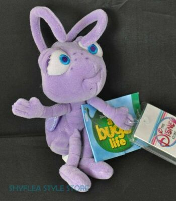 Ant Dot Mini Bean Bag A Bug's Life Pixar Disney Store Plush Toy Insect Purple