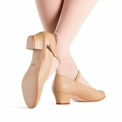 Bloch Leather Stage Shoes, Show Case Girl's or Ladies, Tan , Various Sizes, New