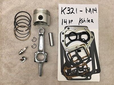 ENGINE REBUILD  KIT fits 14 hp Kohler,  K321 and M14 FREE TUNE UP
