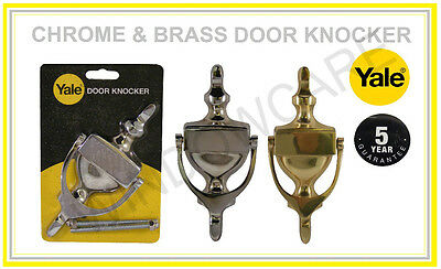 High Quality Yale Chrome or Brass  Door Knockers for uPVC or Composite Doors