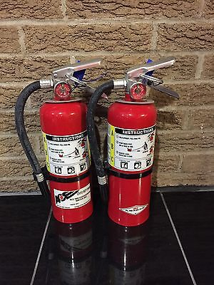 Set of 2 FIRE EXTINGUISHER 5lb 5# ABC NEW CERT TAG (Nice)