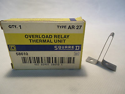 New In Box Square D Ar27 Thermal Unit Overload Relay