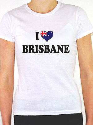 Novelty Themed Women/'s T-Shirt Australia Fun Australian I LOVE BYRON BAY