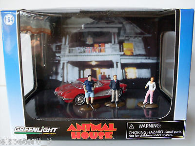Chevrolet Corvette , Animal House, Greenlight Diorama 1:64