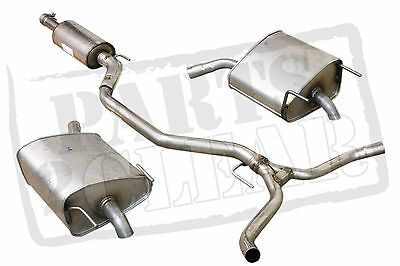 Vauxhall Vectra C 2.2 16V 2003- Exhaust System Centre Rear Twin Dual Exit