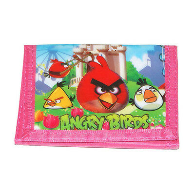 New Kids Boys Girls Angry Birds Coin Purse Wallet Billfold Moneybag Xmas Gift