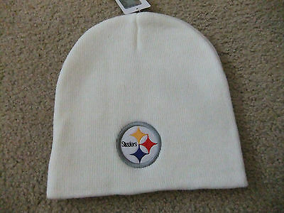Pittsburgh Steelers White Officially Licensed NFL Beanie Hat-BNWT's