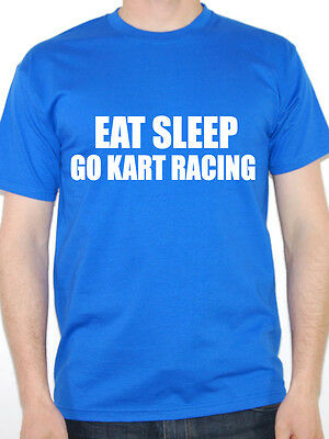 EAT SLEEP GO KART RACING - Go Karting / Novelty / Fun Themed Men's T-Shirt