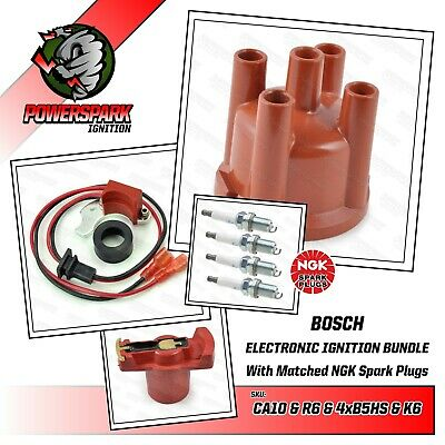 VW Beetle VW T1 & T2 1.6 Cap Rotor B5HS NGK plugs and Powerspark ignition Kit