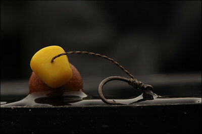 LOOK 6 x KD style size 8 barbed carp rigs in gravel Brown