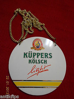 Küppers Kölsch light Zapfhahnschild P432