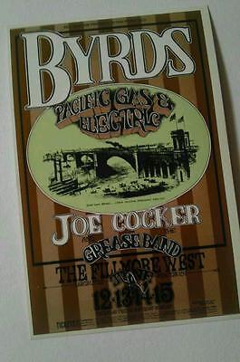 Fillmore -Billy Graham handbill Joe Cocker The Byrds