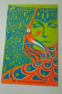 Fillmore -Billy Graham Postcard  Yardbirds, The Doors