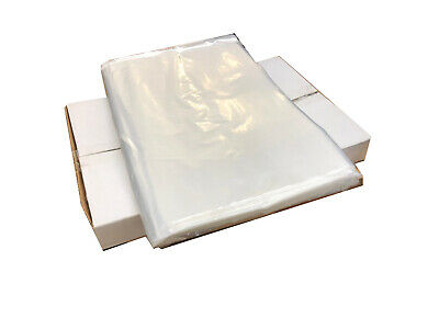"""1000 Clear Plastic Polythene Bags Strong Packing Poly Bags 12""""x18"""""""