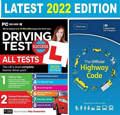 2017-2018 Driving Theory Test & Hazard CD DVD + Official  Highway Code Book..L