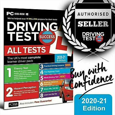 Driving Theory Tests & Hazard Perception Motorbike/Cars PC DVD 2019 *NEW*