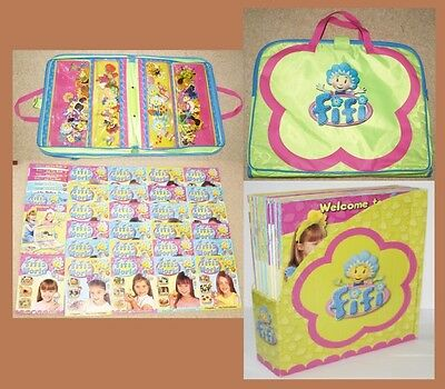 Huge Bundle of 60+ Magnets 25 Magazines Holder Carry Case Fifi Bumble Violet Toy