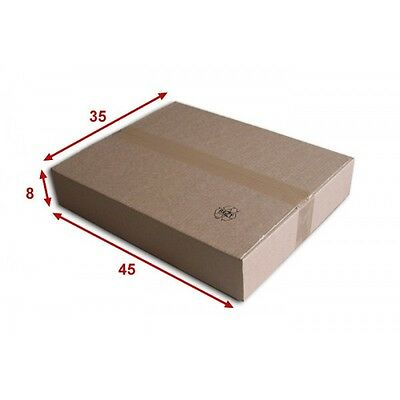 10 boîtes emballages cartons  n° 57   - 450x350x80 mm - simple cannelure