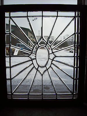 Oval Center Bevel burst glass window  (SG 1367)
